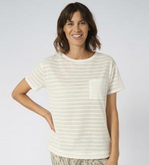 Dámské pyžamové tričko Mix & Match TOP bílé - Triumph SILK WHITE