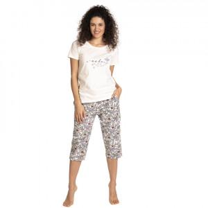Dámské pyžamo L-1394PY Ecru