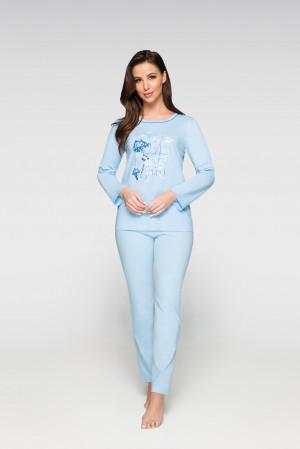 Dámské pyžamo 923 - Regina světle modrá 4XL
