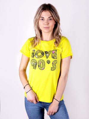 Dámské tričko YO! PK-009 PK-010 Love 90's melanž