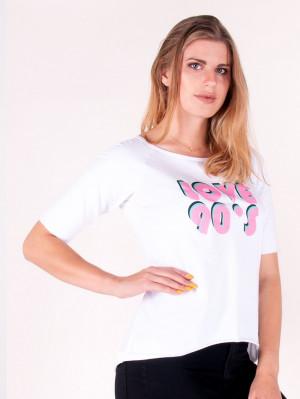 Dámské tričko YO! PK-008 Love 90's bílý