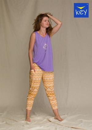 Dámský pyžamo LHS 960 A21 - Key fialová-žlutá