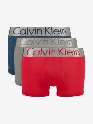 Boxerky 3 ks Calvin Klein Červená