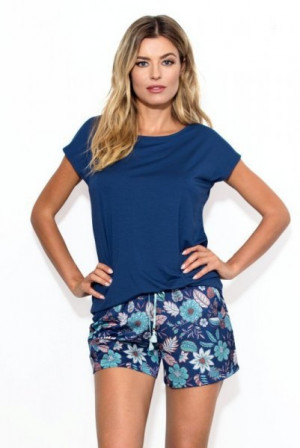 Nipplex By Night Gaja Dámské pyžamo L navy blue