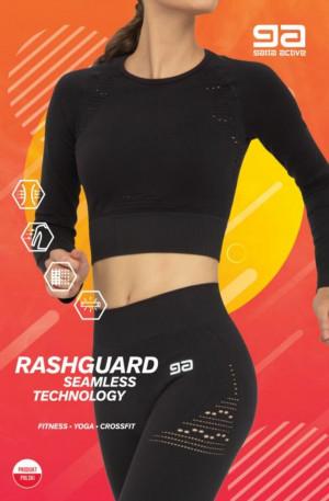 Dámský sportovní top RASHGUARD FITNESS GA Černá