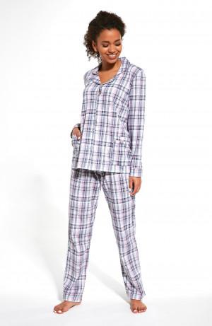 Dámské pyžamo 682/265 Christine - Cornette šedá s růžovou