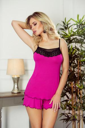 Dámský pyžamový komplet Armina - Eldar tmavě růžová