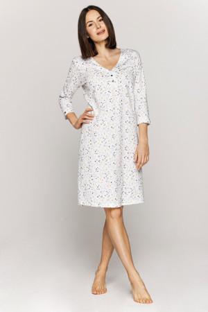Dámská noční košile Cana 875 3/4 3XL bílé květy 3XL