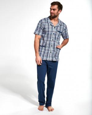 Pánské pyžamo Cornette 318/41 3-5XL Rozepínací džíny 3XL