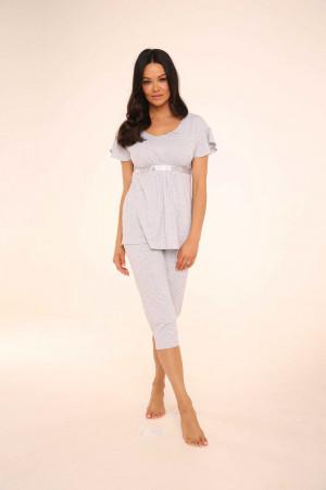 Dámské pyžamo 448 Julie - De Lafense světle šedá