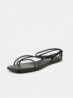 ALDO černé kožené sandály Oita -
