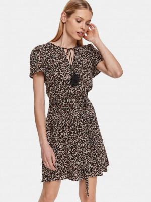 TOP SECRET hnědé áčkové šaty