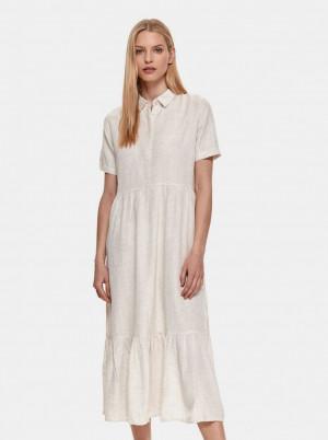 TOP SECRET krémové košilové midi šaty