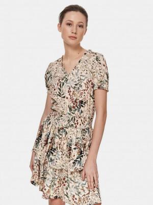 TOP SECRET krémové květované šaty