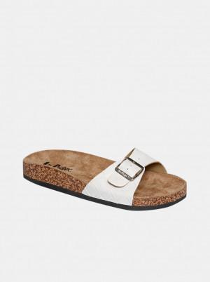 Lee Cooper bílé pantofle -