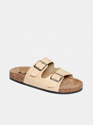 Lee Cooper béžové pantofle -