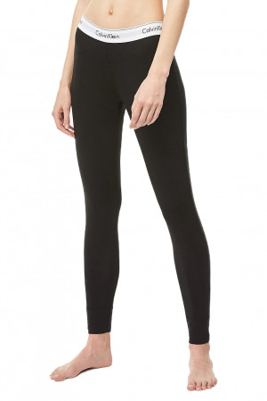 Calvin Klein černé legíny Legging Pant Basic s bílou gumou