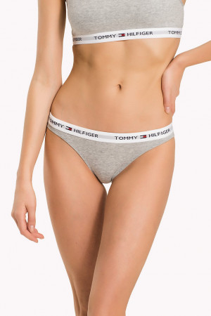 Tommy Hilfiger šedé kalhotky Bikini Iconic Basic