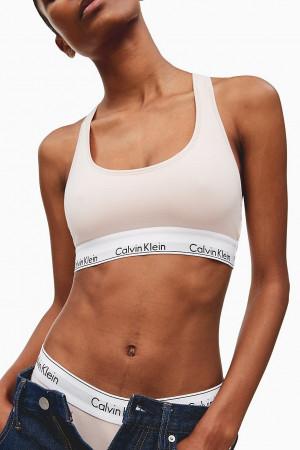 Calvin Klein pudrová sportovní podprsenka Bralette Basic