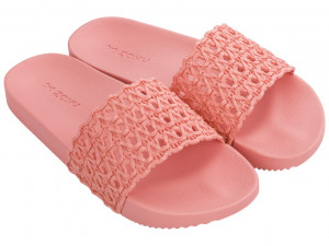 Zaxy růžové pantofle Snap Mesh Slide Fem Pink - 35/36