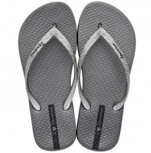 Ipanema šedo-stříbrné žabky Glam Fem Silver -