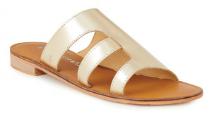 Emu Australia zlaté kožené pantofle Dion Gold -