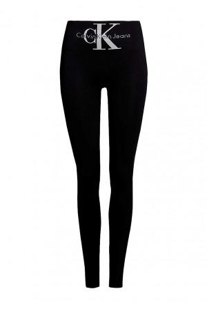 Calvin Klein černé legíny s vysokým pasem Jeans Logo High Waist
