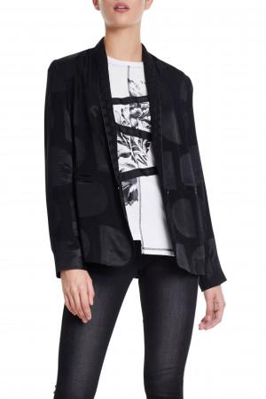 Desigual černé sako Ame Krems s lesklými detaily  -