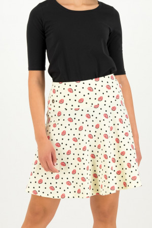 Blutsgeschwister smetanová sukně Vive L´amour Skirt First Kiss