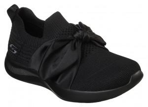 Skechers černé slip on Bobs Squad 2 Bow Beauty -