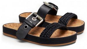 Scotch & Soda černé pantofle Yolin Black -