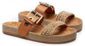 Scotch & Soda béžové pantofle Yolin Cognac -