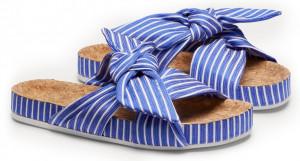 Scotch & Soda pruhované pantofle Yolin Blue/White -