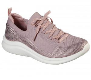 Skechers pudrově růžové tenisky Ultra Flex 2 s lurexovou nití -