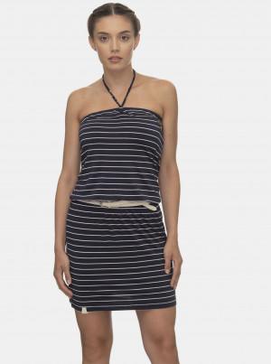 Tmavě modré pruhované šaty Ragwear Chicka