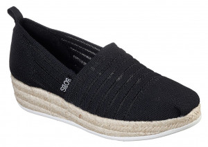 Skechers černé espadrilky s jutou Highlights 2.0. Homestretch Black -