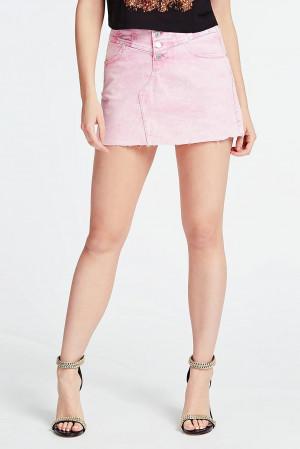 Guess růžová denimová sukně -