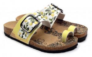Calceo žluté sandály Thong Sandals Lemon -