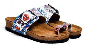Calceo modré pantofle Thong Sandals Blue Dream -