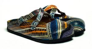Calceo barevné pantofle Mules Ethnic -