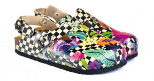 Calceo barevné sandály Classic Sandals Chessboard -