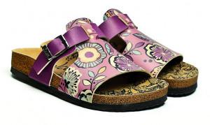 Calceo fialové pantofle Casual Slippers Purple -