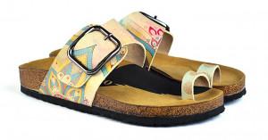 Calceo žluté pantofle Thong Sandals Mandala -