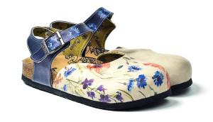 Calceo modré sandály Classic Sandals Wildflowers -