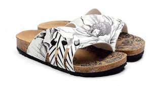 Calceo bílé pantofle Casual Slippers BW -