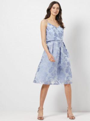 Světle modré květované šaty Dorothy Perkins -