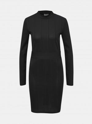 Černé pouzdrové pruhované šaty Noisy May Artis