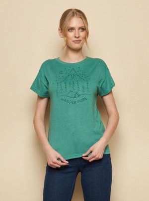 Tranquillo zelené tričko Kunto s potiskem