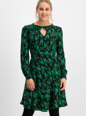 Zelené vzorované šaty Blutsgeschwister Greta