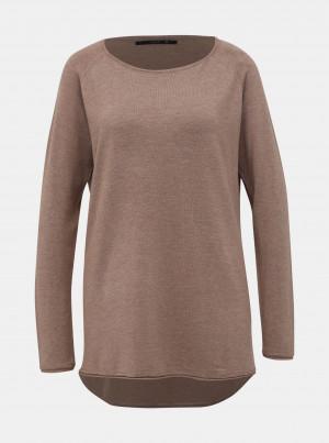 Hnědý basic svetr ONLY Mila Lacy